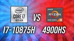 Intel i7-10875H vs Ryzen 9 4900HS - 8 Core CPU Comparison!