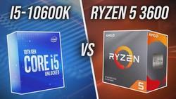 Intel i5-10600K vs AMD Ryzen 5 3600 CPU Comparison