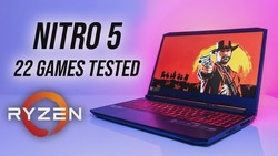 Acer Nitro 5 (Ryzen 5 4600H/1650) 22 Game Test!