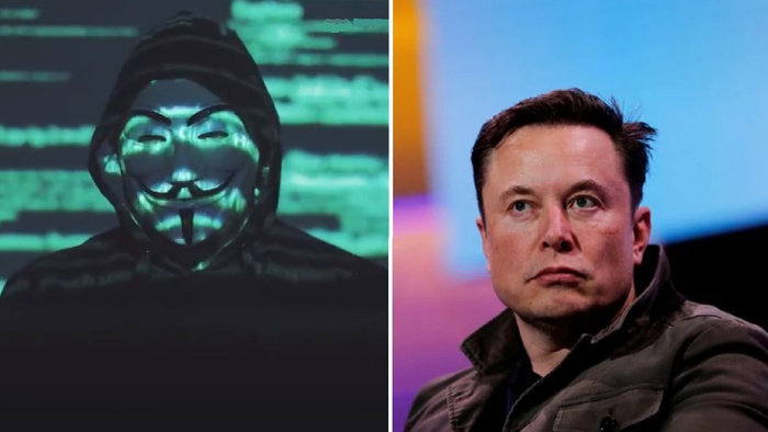Elon Musk gets threatened by the hacking group Anonymous