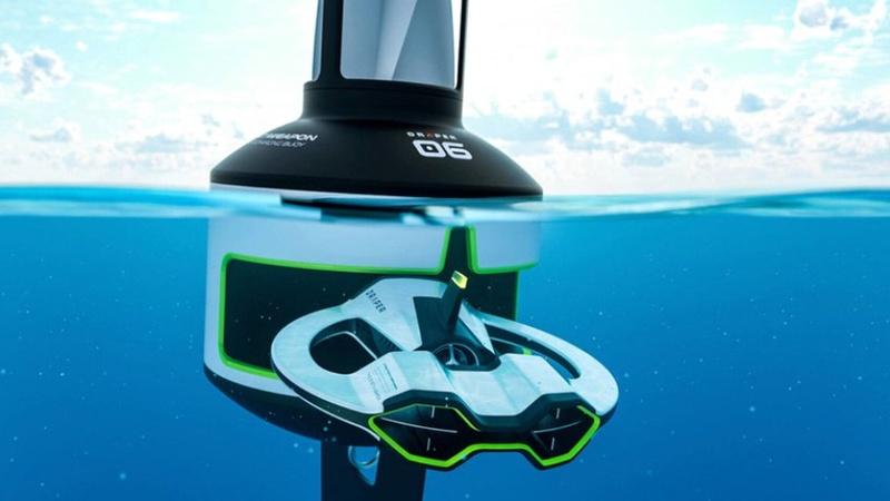 Draper, the underwater drone that scans the ocean for microplastics