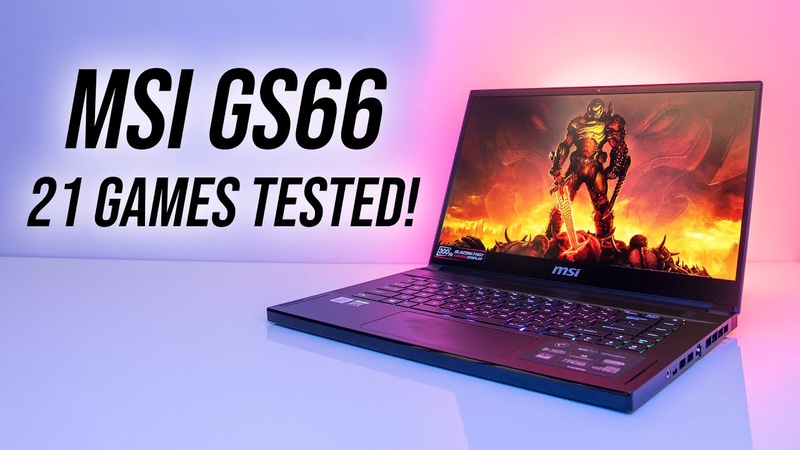 MSI GS66 - How Does It Perform In Games? 21 Games Tested!