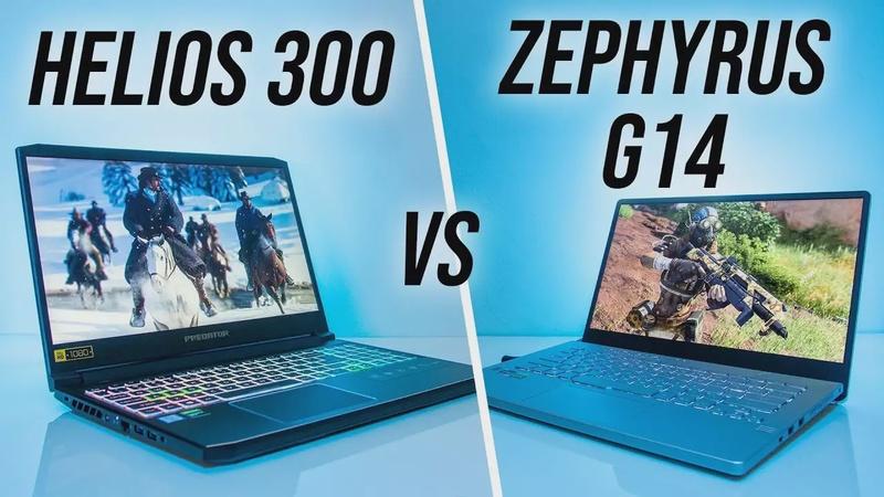 ASUS Zephyrus G14 vs Acer Helios 300 Gaming Laptop Comparison