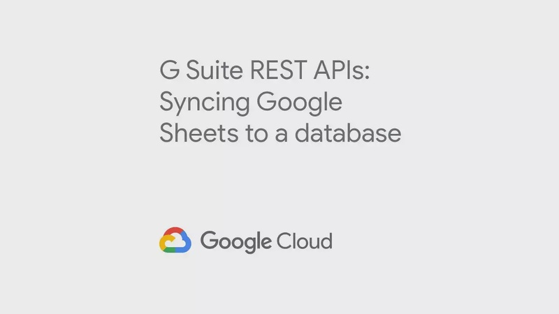 Syncing Google Sheets to a database via REST API's