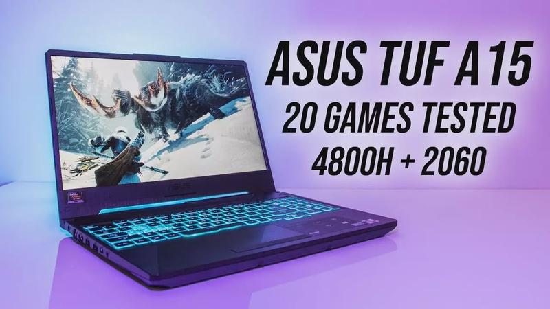 ASUS TUF A15 (Ryzen 4800H + RTX 2060) Gaming Benchmarks!