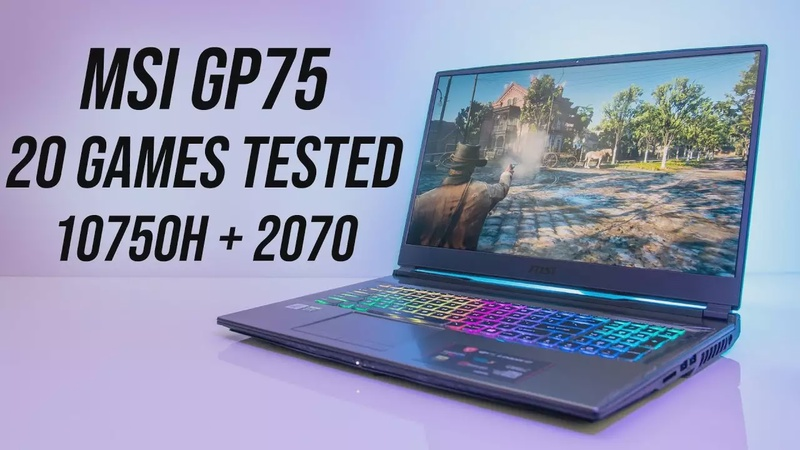 i7-10750H + RTX 2070 Gaming Benchmarks - MSI GP75 10SFK Tested In 20 Games!