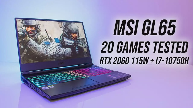 New RTX 2060 115W Gaming Benchmarks! MSI GL65 20 Game Test