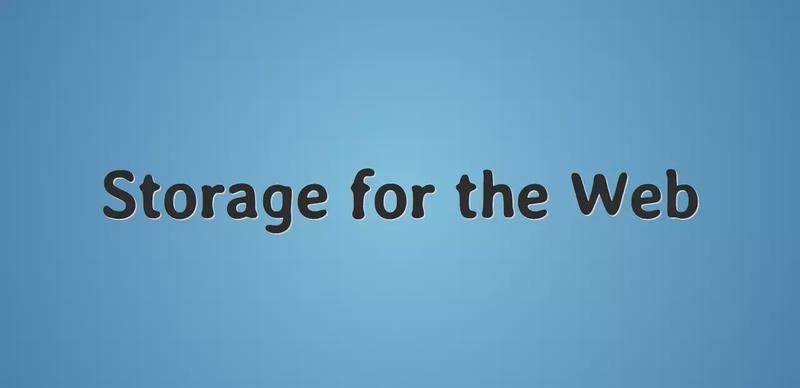 Storage for the web. IndexedDB, Cache API